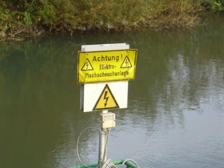 Elektro-Fischscheuchanlage