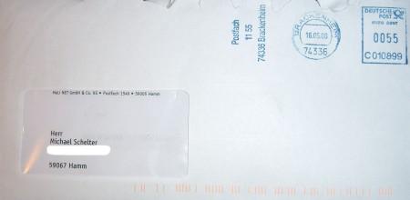 HeLiNet Rechnung aus Brackenheim