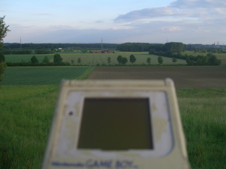 Kurricker Berg Aussicht mit Gameboy