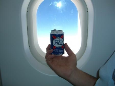 Barcelona - Bier im Flugzeug