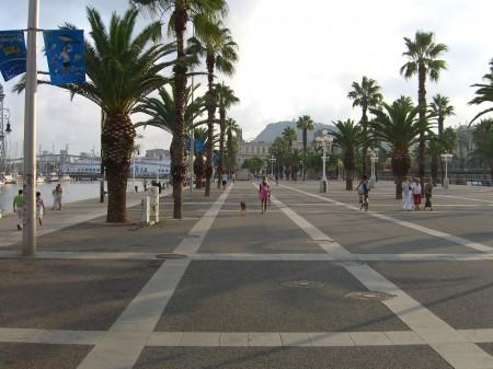 Barcelona - Hafen mit Palmen