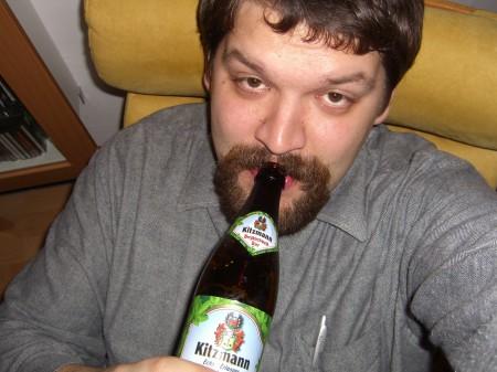 Ich mit Kitzmann-Bier