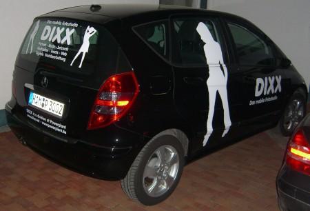 DIXX - Werbung auf Auto