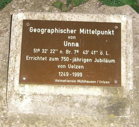 Der Mittelpunkt von Unna