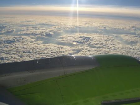 Luftbild Wolken DBA Boeing 737