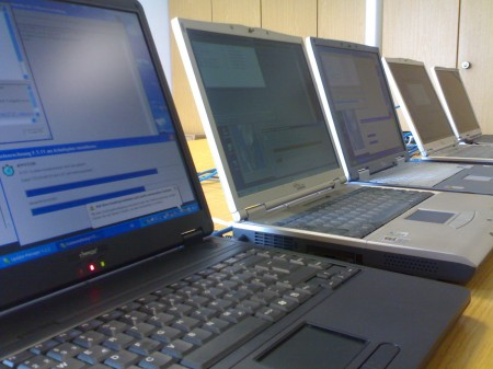 Fünf Notebooks