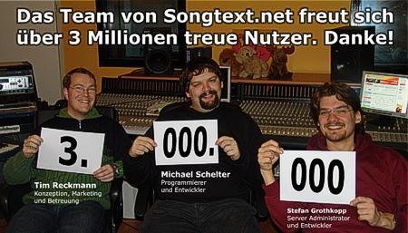 Songtext.net hat 3 Mio. User